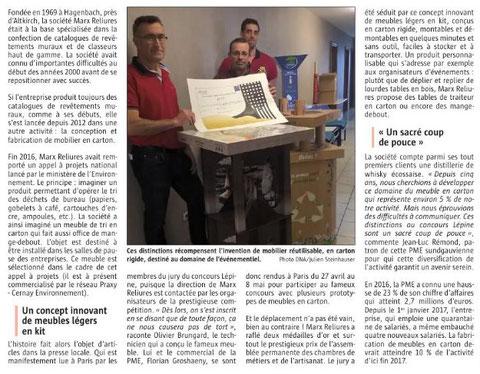 L'Alsace du 18 juin 2017