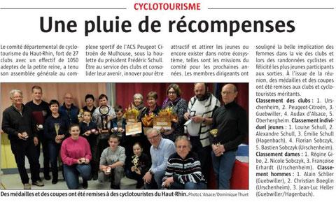 L'Alsace du 27 janvier 2019