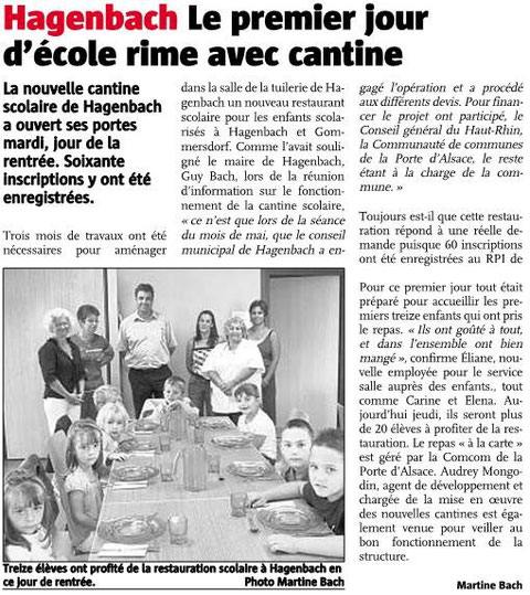 Article de presse du 4 septembre 2008