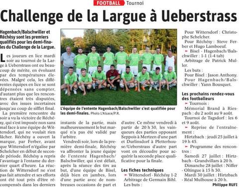 Journal L'Alsace du 25 juillet 2019
