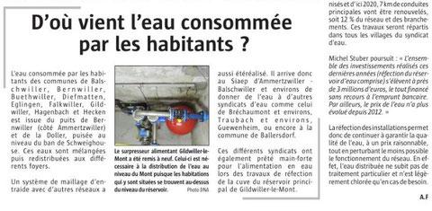 Journal L'Alsace du 25 juillet 2017