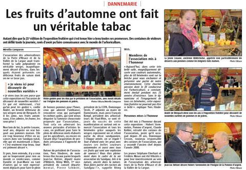 L'Alsace du 21/10/2016