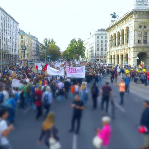 Demo auf der Wiener Ringstraße