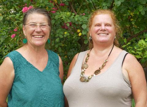 Zwei engagierte Frauen: UGÖD-Kassierin Connie Lamm (re.) mit Akademie-Organisatorin Ulli Fuchs (UG, li.)