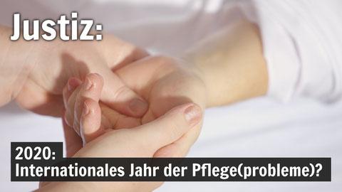 PflegerIn hält eine ausgestreckte Hand