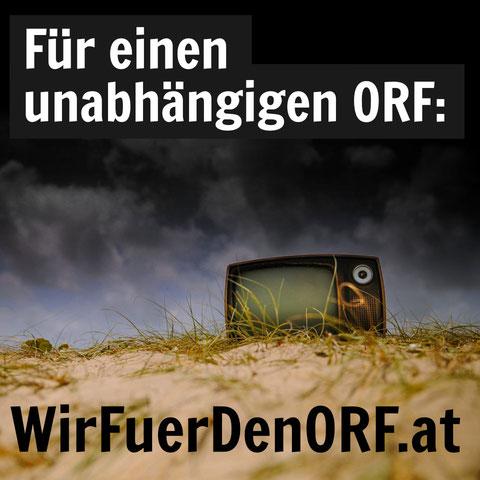 Kampagne für einen unabhängigen ORF: wirfuerdenorf.at