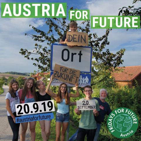 20.9.19 Austria For Future - Dein Ort für die Zukunft!