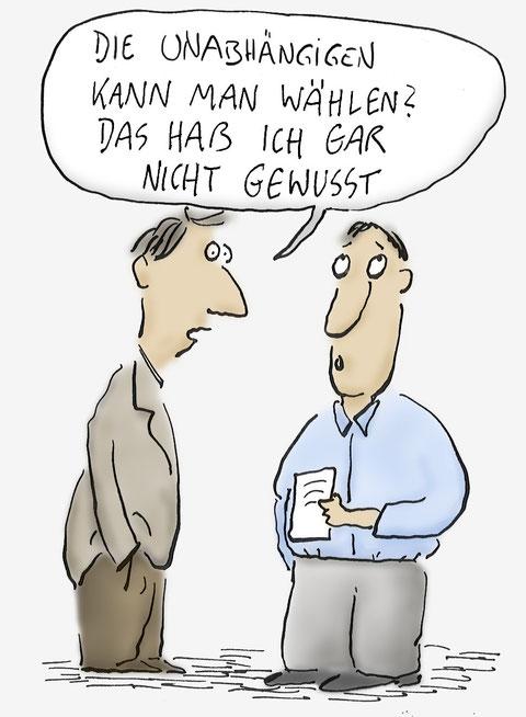 MUCH-Cartoon: Die Unabhängigen kann man wählen?