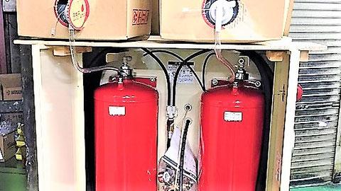 パッケージ型消火設備は納入時に薬剤充填