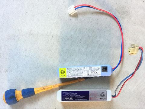 バッテリーは受信機内でコネクタ接続