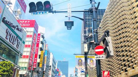 東京 スクランブル交差点