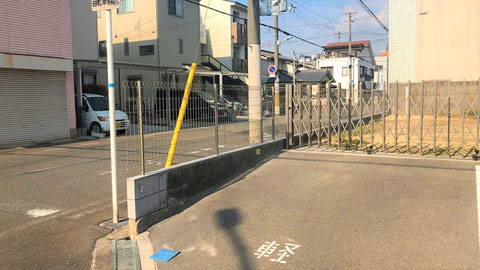 見通しも良い金属製の柵に更新 ブロック塀