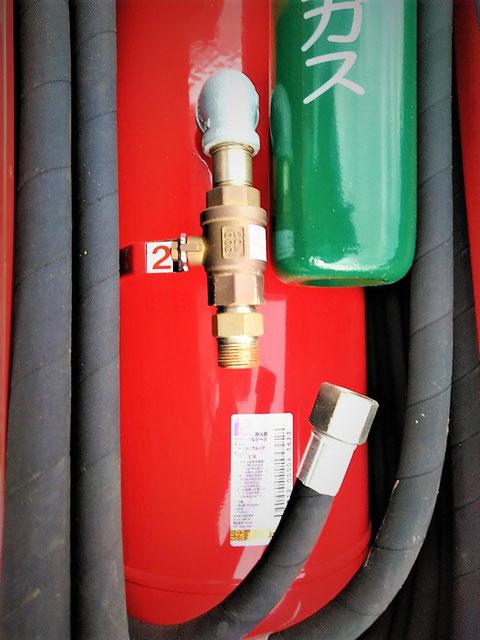 薬剤容器とホースの接続部