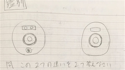 左:P型1級発信機、右:P型2級発信機