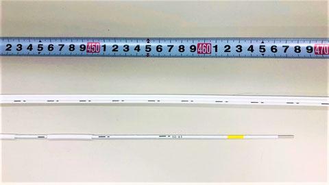 長さ及び+・-の極性 熱電対式差動分布型感知器