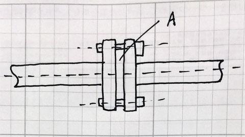 フランジ管継ぎ手の絵