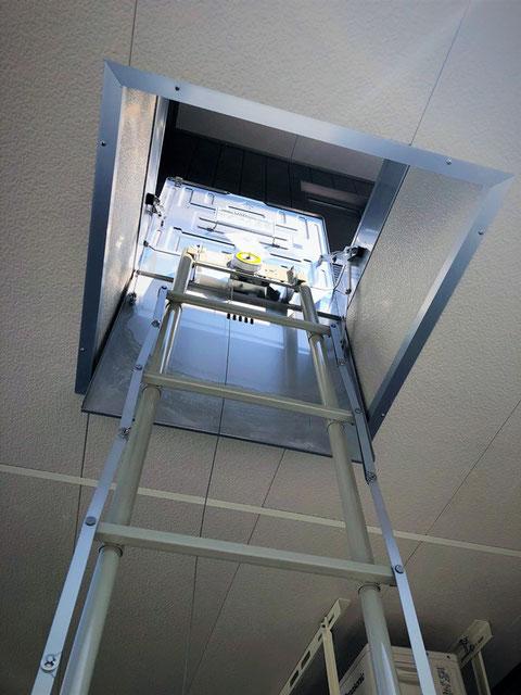 避難はしごの方が点検しやすい