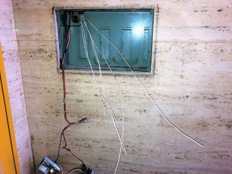 検出器箇所まで空気管を敷設