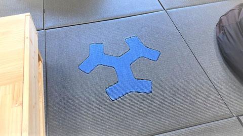 畳のロゴは高い技術力が用いられている