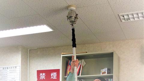 消防用設備点検の様子