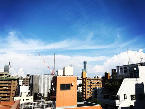 あべのハルカスが見える大阪