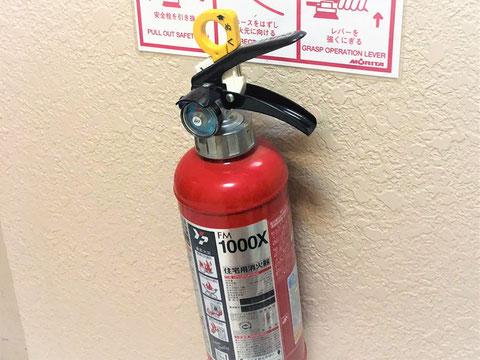 """ラベルに""""住宅用消火器""""の文字"""