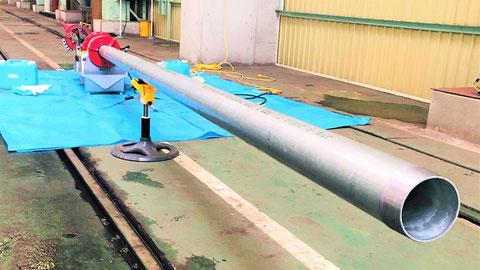 ぶ厚い配管を用いる建物 連結送水管