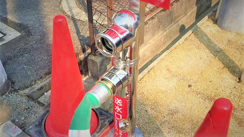 消防検査時にスプリンクラー用送水口も確認