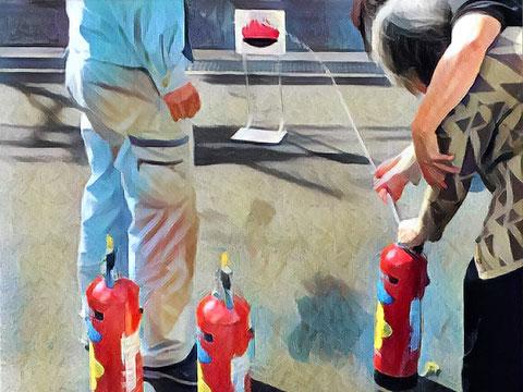水消火器噴射