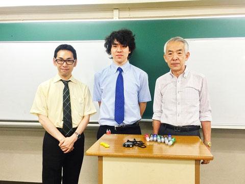 左:星川さん、中央:天然パーマ、右:不動先生