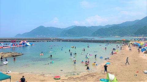 奥城崎の綺麗なビーチ