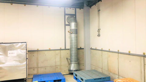 危険物倉庫内の換気装置