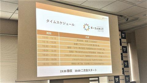 K-SAMITタイムスケジュール