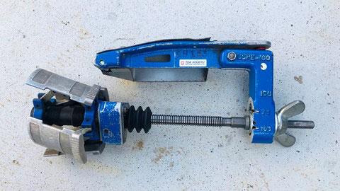 樹脂管を切削する為の刃つき工具の外観…