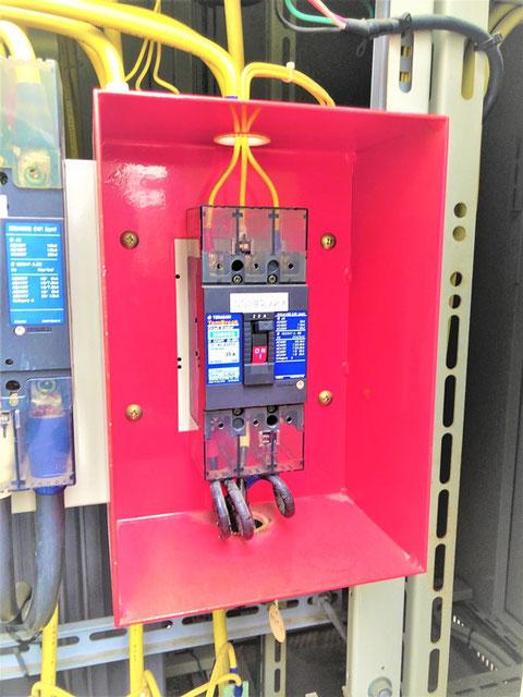 専用受電は赤いボックス
