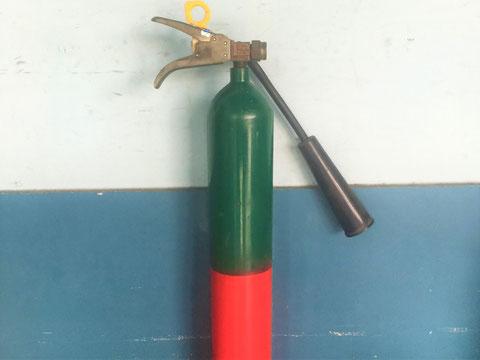 二酸化炭素消火器の外観