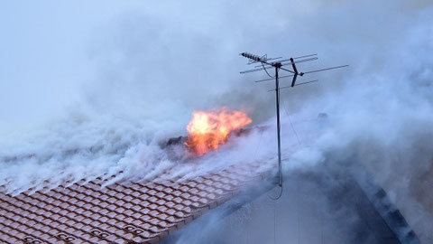 世界遺産の火災と同時に一般建物