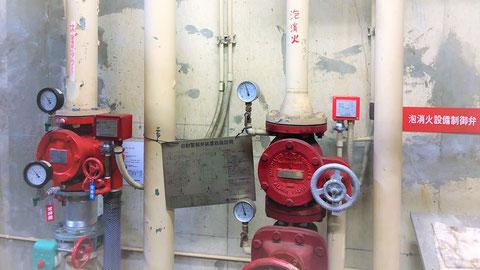 スプリンクラーと泡消火設備の流水検知装置