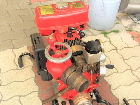 動力消防ポンプを始動させるには慣れが必要