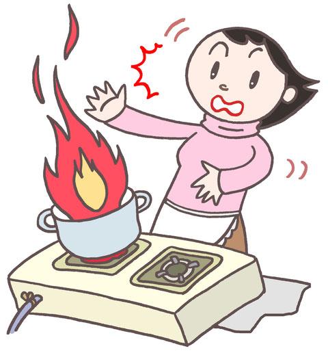 天ぷら油が発火時の対処法
