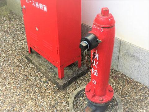 神社にあった消火栓