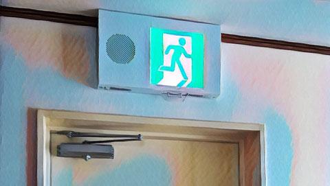 音声点滅信号付き誘導灯