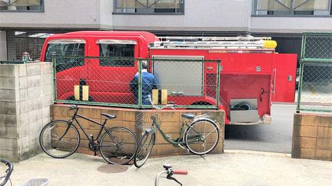 消防ポンプ車で連結送水管耐圧試験も可能