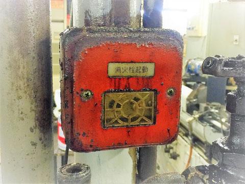 消火栓ポンプ遠隔起動ボタン