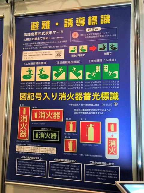 図記号が入った消火器の標識