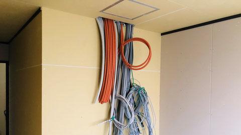 新築の現場はVVFケーブル 自動火災報知設備