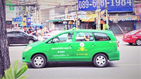 タイの車 クルマ タクシー