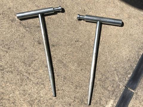 地上で測定する際は補助接地棒