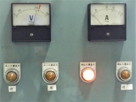 """消火水槽""""満水""""""""減水""""、補給水槽""""満水""""""""減水"""""""