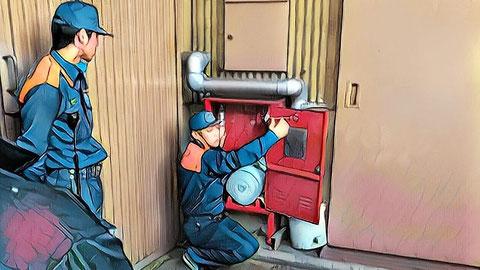 消火・避難訓練にまで立ち会う消防署
